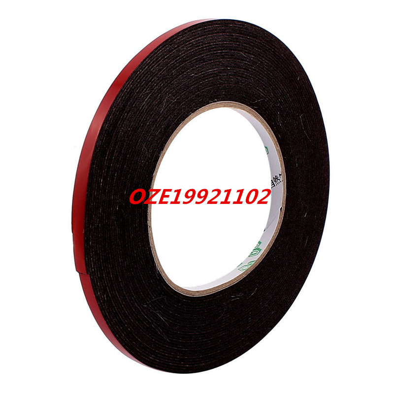 1PCS 6mmx1mm Double Sided Sponge Tape Adhesive Sticker Foam Glue Strip Sealing 33Ft 1pcs 45mm x 5mm single sided self adhesive shockproof sponge foam tape 3 meters