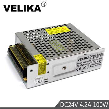 Pojedyncze wyjście przełącz zasilanie DC24V 4 2A 100W zasilacze AC100-240V do taśmy Led sterowania czarownica świetlny wyświetlacz 3D druku tanie i dobre opinie VELIKA Other 50 60HZ S-100-24 51-100 w DC24V (Constant Voltage) 0-4 2A Max AC85-265V 129X99X40MM IP20 (Indoor Power Supply)