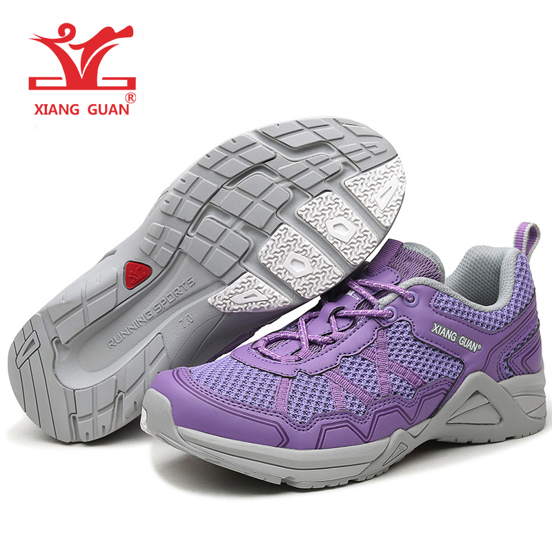 XIANGGUAN Woman Running Shoes Lightweight Anti Skid Jogging Sneakers Women Sport Run Breathable Purple Blue zapatillas chaussure new hot sale children shoes comfortable breathable sneakers for boys anti skid sport running shoes wear resistant free shipping