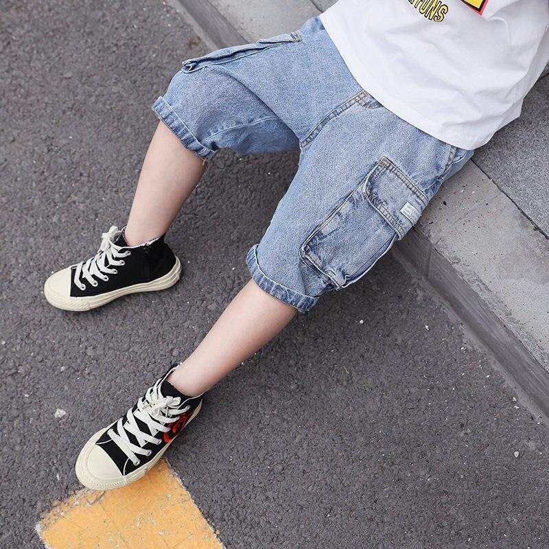 casual denim calcas curtas 4y 13y criancas menino 02
