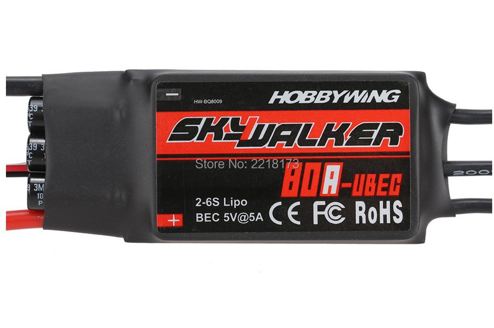 100% Original Hobbywing Skywalker 80A Brushless ESC Speed Controller With UBEC for rc helicopter original 80