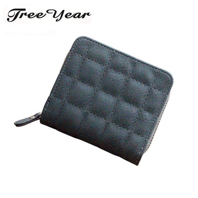 High Quality Designer Brand Plaid Wallet Lady Fashion Clutch Casual Women Purses Party Zipper Poucht  Coin Pocket Mini Wallets