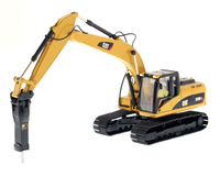 DM 1:50 CAT 320D L Hydraulic Excavator with Hammer Drill Engineering Machinery DieCast Masters 85280 For Collection,Decoration