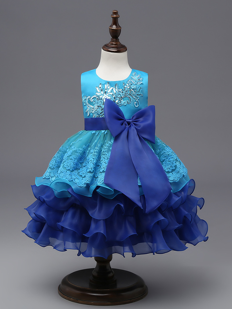 Formal Children Ball Gown Elsa Clothing girl dress for girls dresses Summer 2017 Elegant princess party tutu dress kids dresses цена