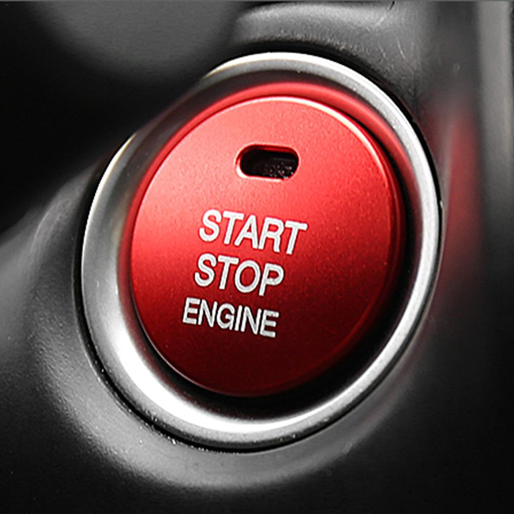 Hot Sale START <font><b>Engine</b></font> Button Replace <font><b>Cover</b></font> STOP Key Accessories Switch Decoration For <font><b>Mazda</b></font> <font><b>3</b></font> BM BN 6 GJ1 GL CX-4 CX4 CX-5 CX5 image
