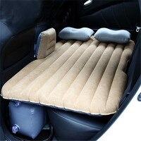 Car Mattress Inflatable Air Bed Back Rear Seat Sleep Rest Cushion Kaki