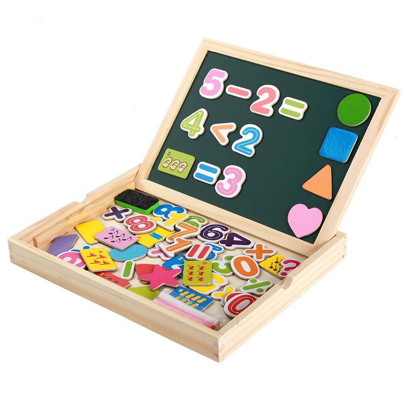 Nouveau en bois multifonction enfants magnétique autocollant Puzzle écriture planche à dessin tableau noir Montessori apprentissage éducation jouet