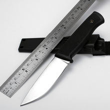 Brand Fixed Blade Knife VG10 Blade Straight Knives Camping Knife Outdoor Survival Knife Utility Pocket Tools EDC + ABS Sheath