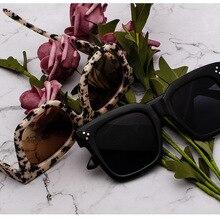 Fashion Kim Kardashian Sunglasses Lad Flat Top Eyewear Lunette Femme Women Luxur