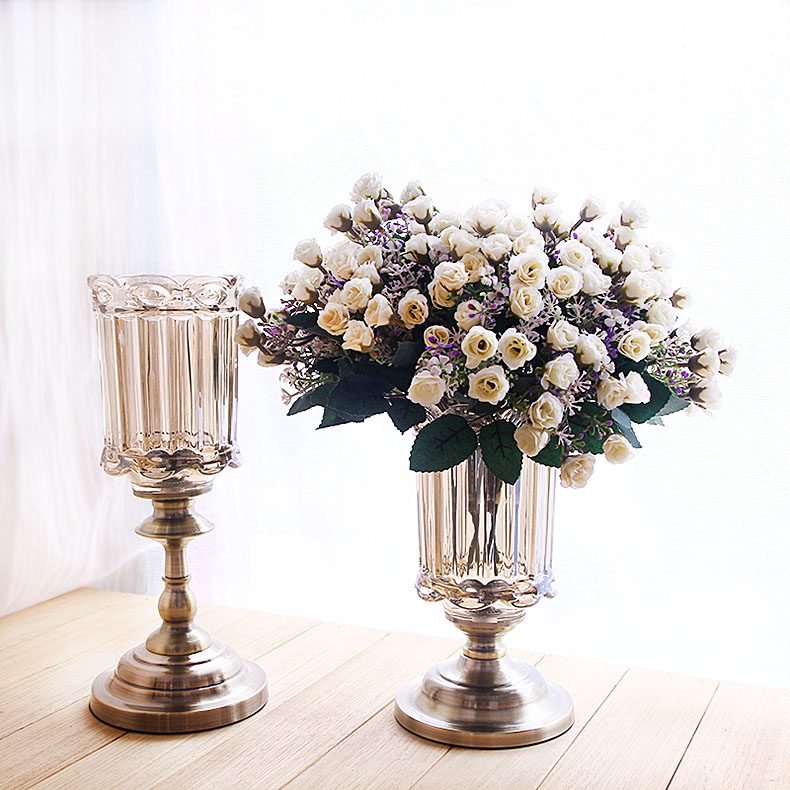 2016 fashion crystal glass glass vase decoration home for Crystal home decorations