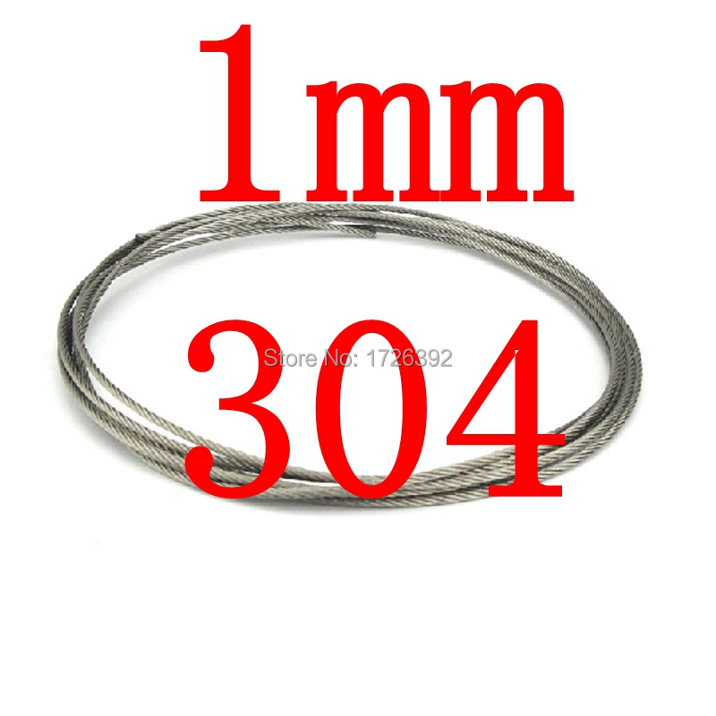 1mm 7X7 Authentic 304 Stainless Steel Wire Rope Cable,standing ...