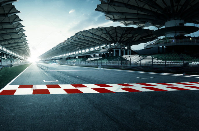 circuit road race track backgrounds vinyl cloth high quality