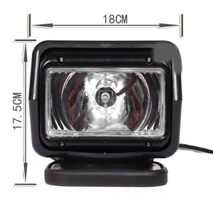 Image 3 - AICARKAS 12V 24V 35W 55W 70W HID Xenon Searching Light Wireless Remote Control HID Searchlight 6000K for Off road SUV Car Boat