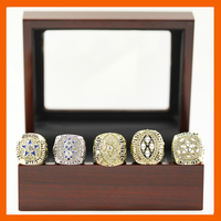 1971 1977 1992 1993 1995 DALLAS COWBOYS CHAMPIONSHIP RING 5 PCS RING SET WITH WOODEN CASE