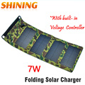 Portable Folding Foldable 7W 5V USB Camping Solar Panel Powered Charging Charger Battery Mobile Cell Phone Power BankCharger