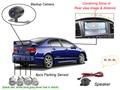 Vehicle Car video parking sensor+rear camera alarm system,Auto rearview Parking Sensor Radar security assistance 4 sensors black