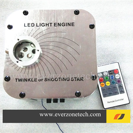 27W LED Fiber Optic Light Engine with Twinkle Wheel and Shooting Effect RF Remote Control 27w led rgb fiber optic illuminator with 24key ir remote and shooting star wheel ac100 240v input