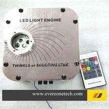 27W  LED fiber optic light engine with twinkle color wheel 24keysIR remote control  fiber optic star ceiling light engine