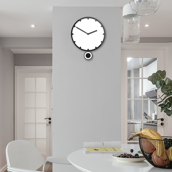 Nordic wall clock living room modern simple creative clock personality fashion decorative clock air silent swing Watch