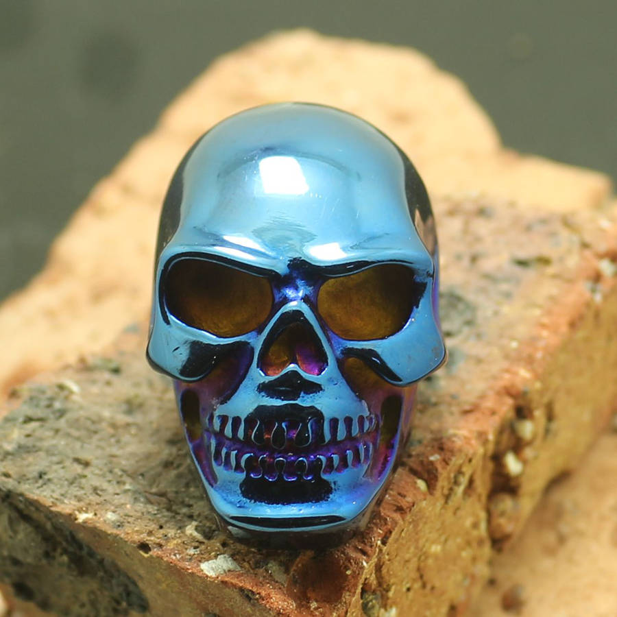 Retail Size 6 to size 16 Unisex 316L Stainless Steel Classic Biker Skull Ring gj303 rhinestones 316l stainless steel couple s ring black silver size 9 7 2 pcs