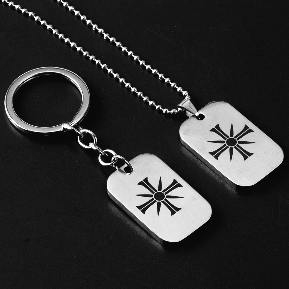 Stainless Steel Far Cry 5 FARCRY Keychain Shooting Games Keyring Pendant Men Women Car Key Chain Fashion Jewelry