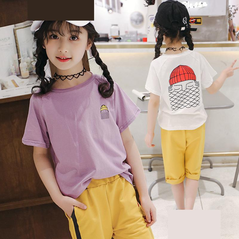 T-shirts Tops Tees + Pants Trousers Toddler Girls Summer Clothing Sets 2018 Kids Girls Clothes Set Girls Outfit Boutique Costume mudkingd boys girls super soft fleece base shirt tees tops children t shirts solid turtleneck sweatshirts kids clothes blusas