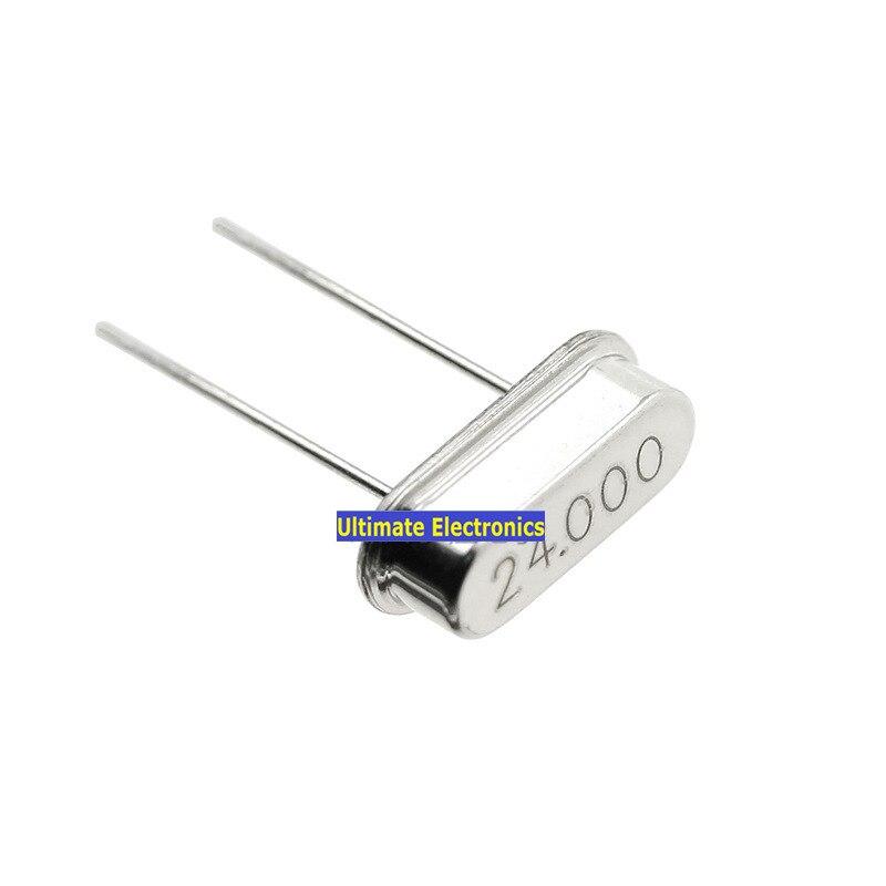 40pcs Passive crystal HC-49S 24MHZ 24M Crystalline DIP 2feet