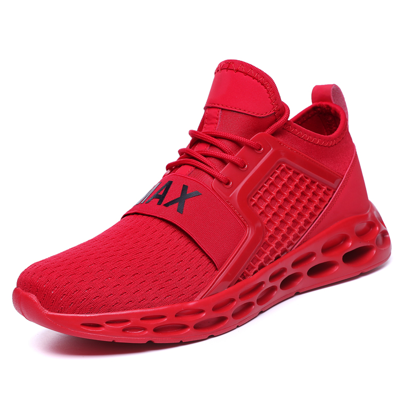 Breathable Running Shoes For Men Green Red Sport Shoes Men Sneakers Zapatos corrientes de verano Red chaussure homme de marque