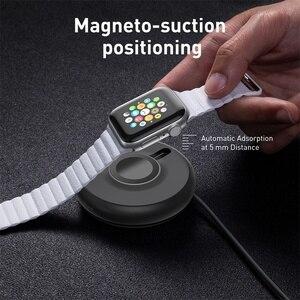 Image 5 - Baseus Qi chargeur sans fil Dock pour i Watch 4 3 2 1 chargeur magnétique Portable rapide sans fil chargeur pour Apple Watch Series