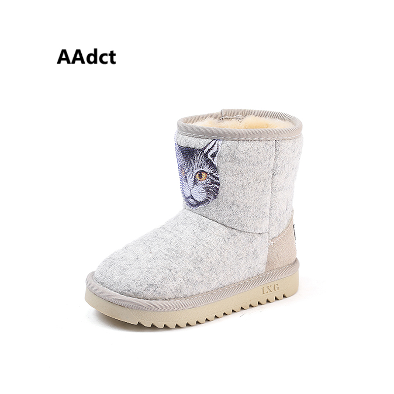 AAdct Cotton warm short baby boots for little boys New fashion snow little girls boots 2018 Winter little kids boots hanes little boys tank