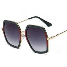 f4f7d34fc Quadrado Óculos de Sol Marca de Luxo Designer de Senhoras De Cristal De  Grandes Dimensões Óculos De Sol Das Mulheres Grande Quad.