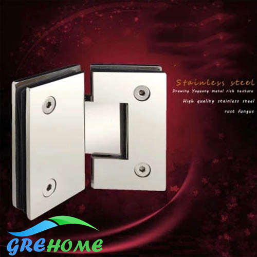 High Quality 135 Degrees open 304 Stainless Steel Hinges Wall Mount Glass Shower Door Hinge dhl wholesale 40pcs 135 degree open 304 stainless steel wall mount frameless wall to glass clamps glass shower door hinge jf1187