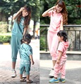 Family clothing sets new summer Angel wings coloth set hooded T-shirt + Shorts 2 PCS set Mother and daughter set Girls clothing
