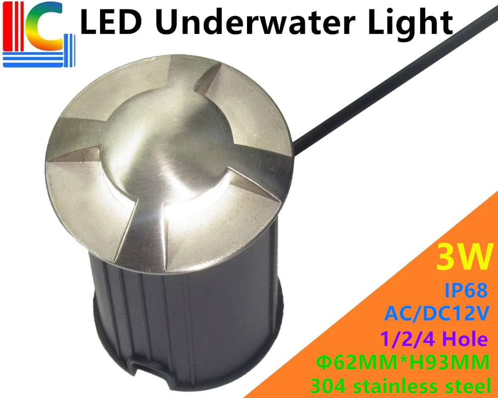 Led Underwater Lights Beautiful 1/2/4 Hole 3w Outdoor Underwater Led Light Ip68 12v Swimming Pool Lights Waterproof Ladder Lights Pond Underground Light Ce Fashionable And Attractive Packages Led Lamps
