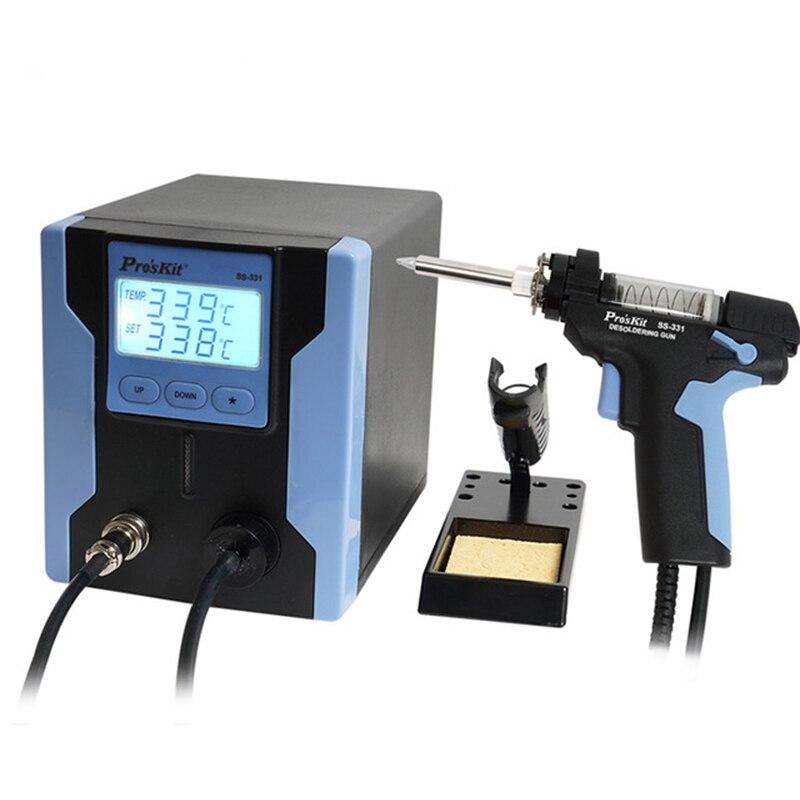 Pro'sKit SS-331H ESD LCD numérique pompe à dessouder BGA dessouder aspiration électrique absorber pistolet électrique vide soudure ventouse pistolet