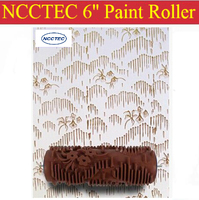 6 Soft Rubber Decorator Roller FREE Shipping 150mm Wall Paint Roller Tools