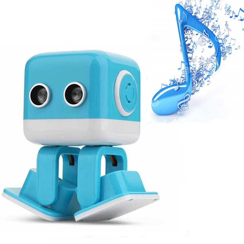 Smart Square Dance Robot Electronic Walking Toys dancing With Music Bluetooth Wireless Speakers Gift For Kids Toy to Child genuine peppa pig 44cm cartoon peppa s toy ukulele kids toys gift fun to learn perfect way for kids to get started with music