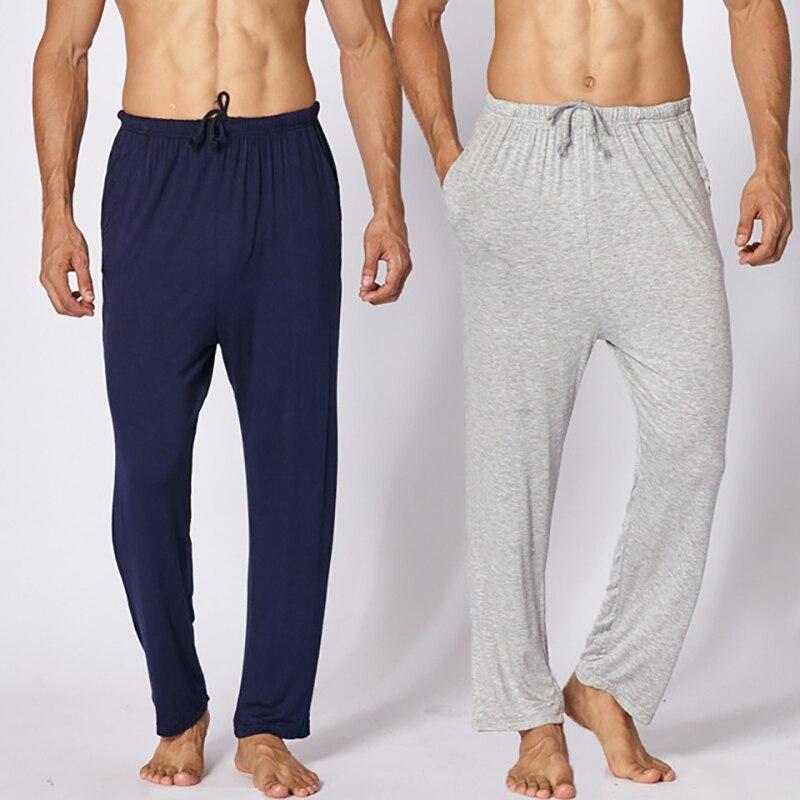 Mens Modal Lounge Pants Trousers Sleepwear Pyjamas Nightwear Long Bottoms L-4XL