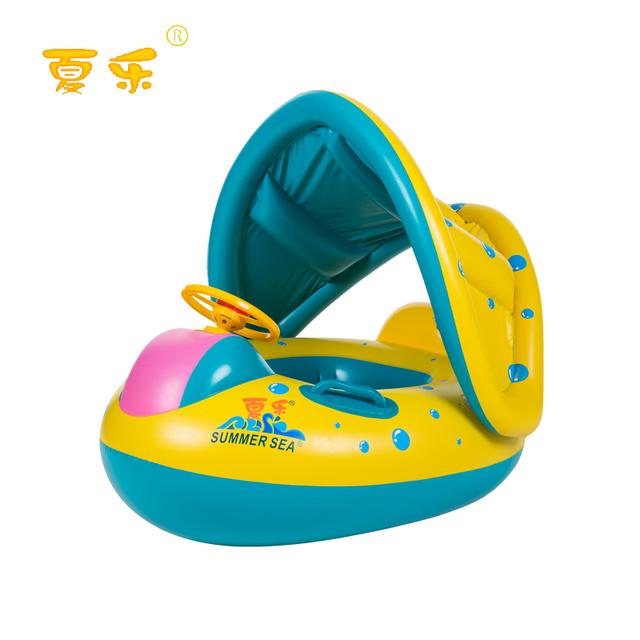 Frete grátis Inflável Criança Bebê Swim Anel da Sede Float Piscina Assento com Canopy 030201