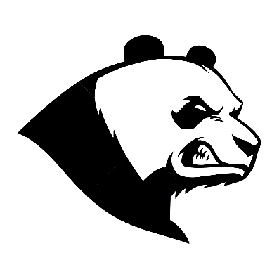 Aliexpress.com : Buy Car decals angry panda head 13 x 11.3
