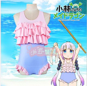 High Quality Chi No Maid Dragon Anime Kanna Kobayashi Cosplay Sexy Swimsuit Kobayashi's Dragon Maid Kanna Kamui  Swimsuit
