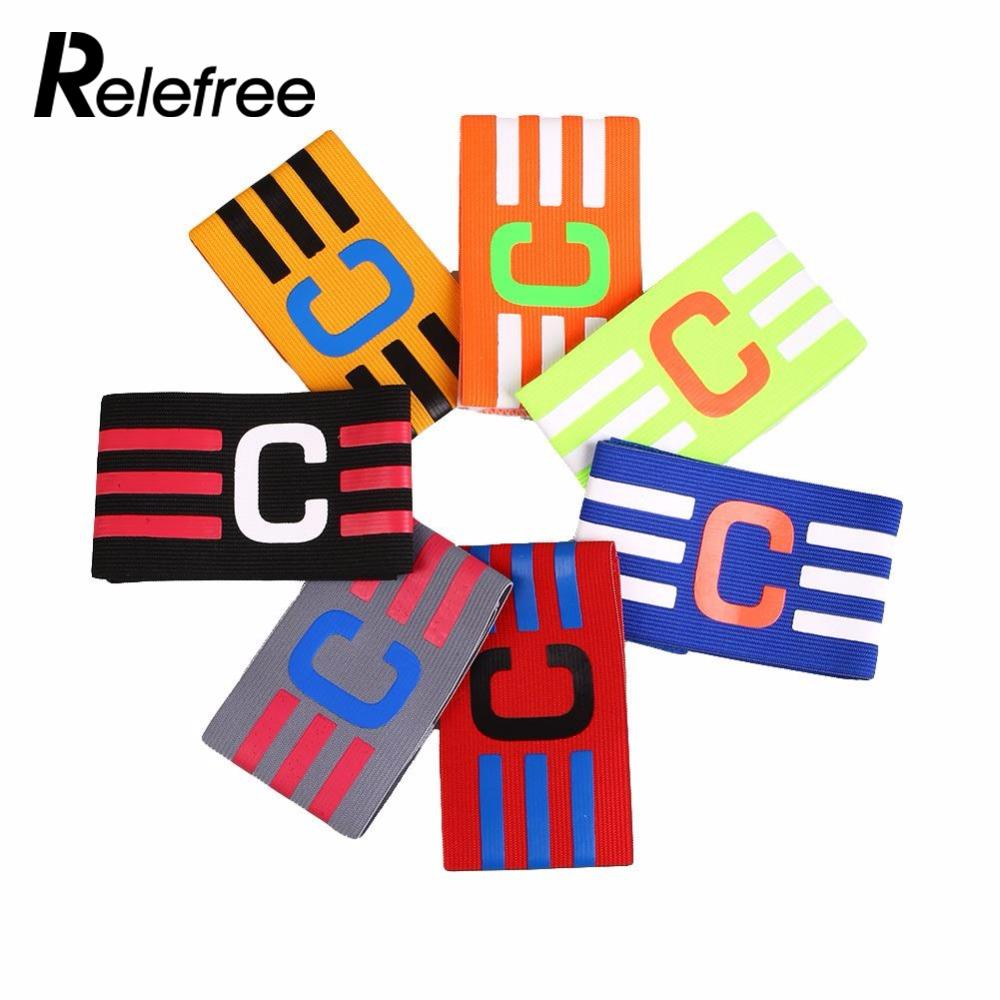 Relefree New Arrivals Adjustable Football Captain Armband Soccer Hockey Rugby Sports Competition Band 7 Colors