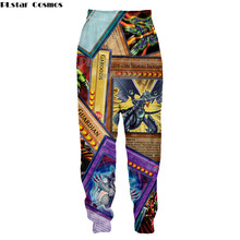 PLstar Cosmos Anime yu gi oh monster cards Harajuku style Mens Womens casual Pants 3D Print pants Plus size S-5XL(China)