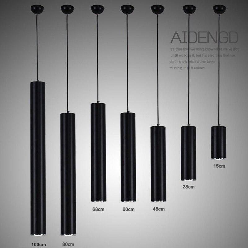 LukLoy <font><b>Pendant</b></font> Lights Modern Kitchen Lamp Dining Room Bar Counter Shop Pipe <font><b>Pendant</b></font> Spot Lights Cylinder