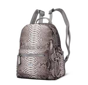 Leisure Backpack Python Small Black-Color Women Genuine Fashion And Real Snake Daily-Bag