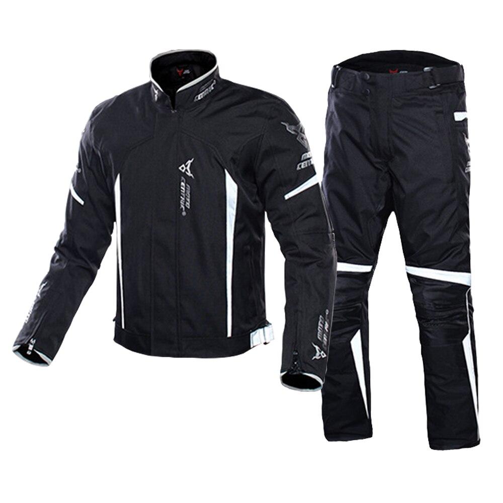 Veste de Moto motocentrique + pantalon costume armure corporelle veste de Moto équitation veste de Moto hommes équipement de Protection de Moto #