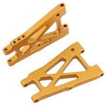 Aluminum Rear Lower Suspension Arm (L/R) For Kyosho 1/10 OPTIMA JAVELIN Remote Control 4WD Buggy 30617 30618 Option Parts(China)