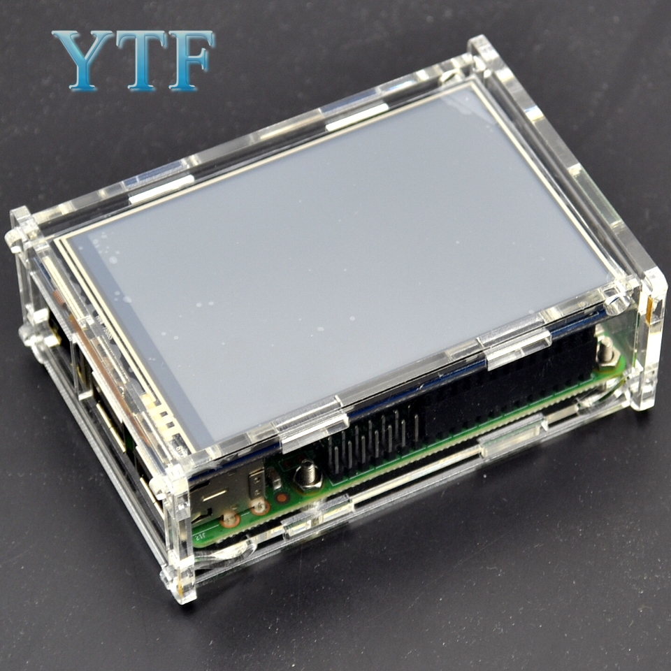 Raspberry Pi 2 3 B+ Generation Case Shell For Support 3.5-Inch 1920x1080 LCD Touch Screen