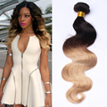 Ombre Brazilian Hair 6A Body Wave 3Pcs 1b/27 Colourful Brazilian Virgin Hair Extensions Sunny Queen Hair Products