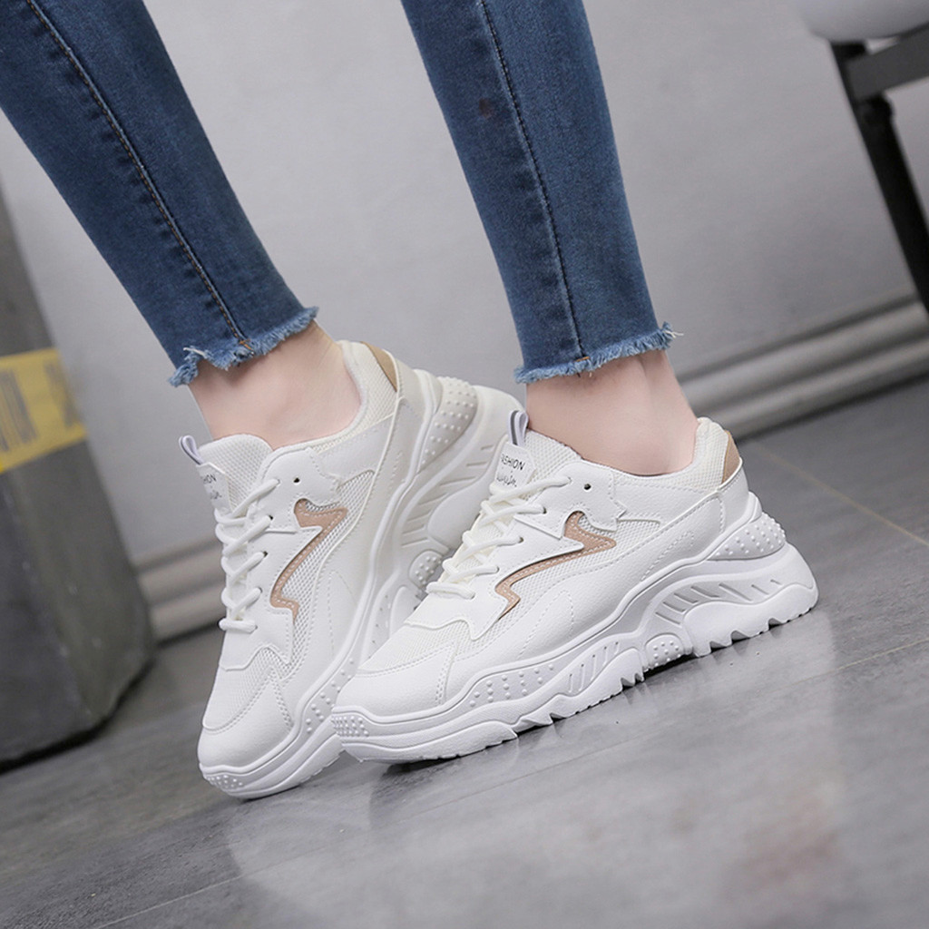 2019 Casual Shoes Women Mash White Sneakers Outdoor Trainers Women Tenis Shoes Platform Sneakers Women Shoes Сникеры